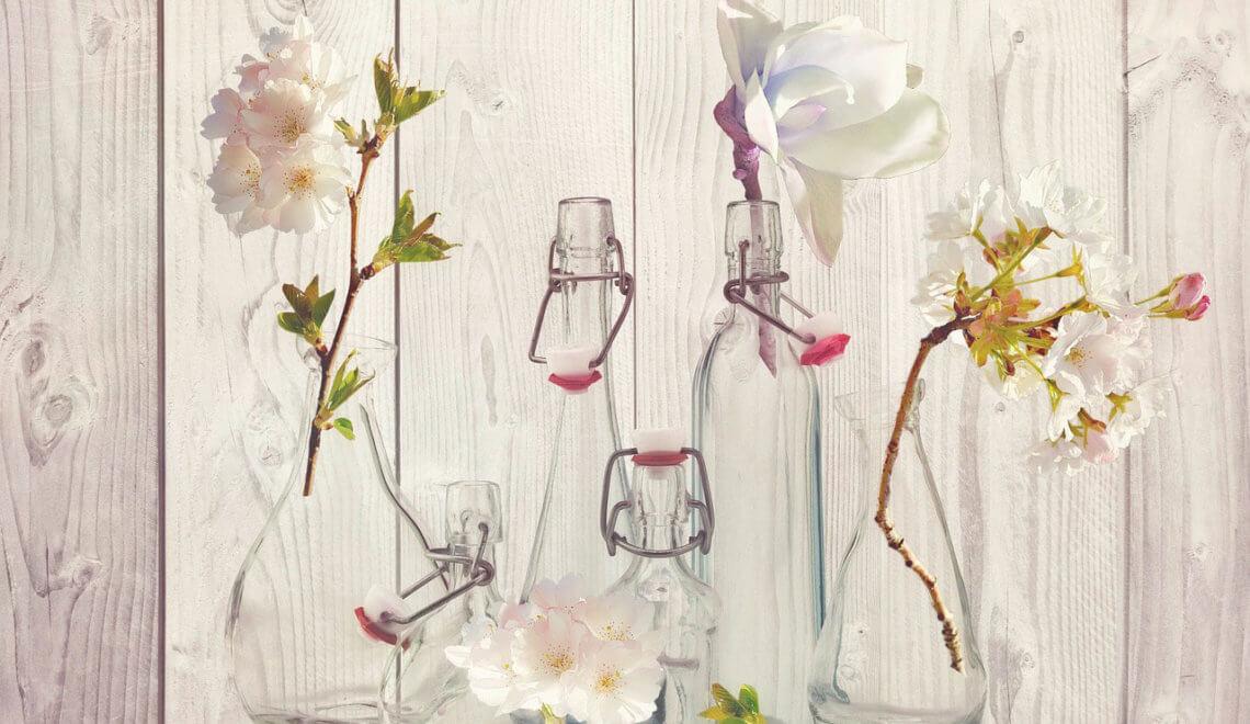 Decoração com vidros